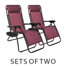 sets of 2 zero gravity chairs