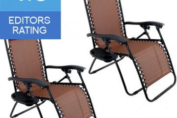 Arksen pack of 2 zero gravity chair brown