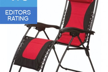 Faulkner Laguna style extra large zero gravity recliner red and black