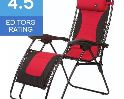 Faulkner Laguna style extra large zero gravity recliner red and black