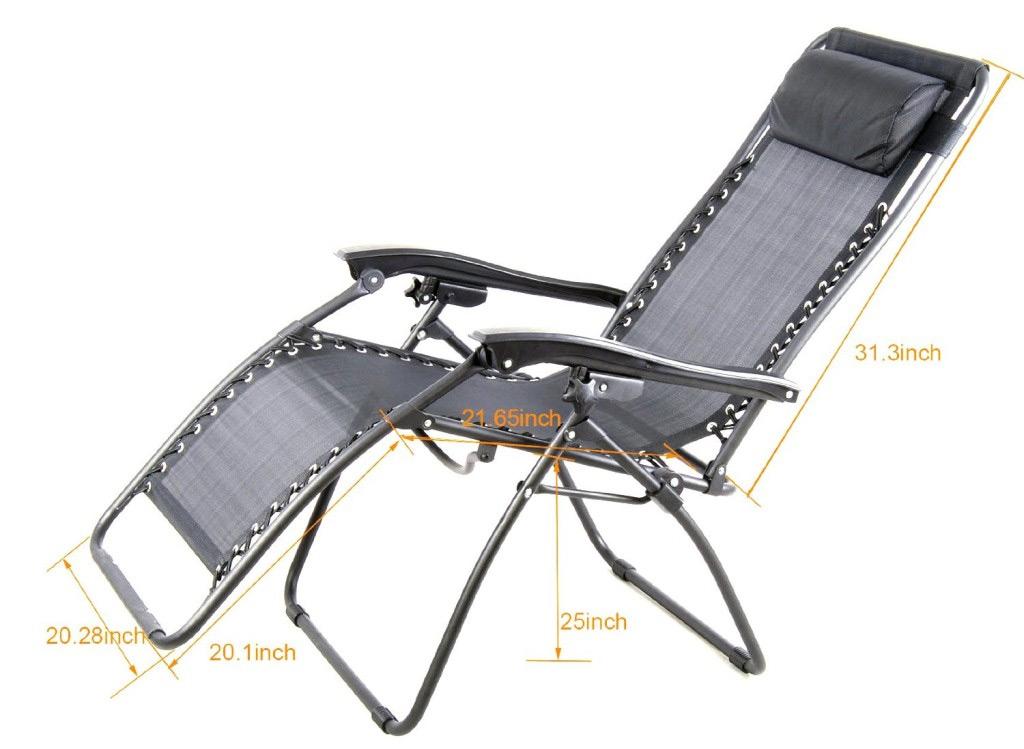 Outsunny Zero Gravity Chair Dimensions