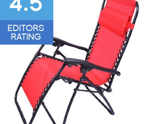 Outsunny Zero Gravity recliner Chair in red