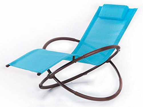BELLEZZA Folding Orbital Zero Gravity Lounge Chair - Ocean Blue