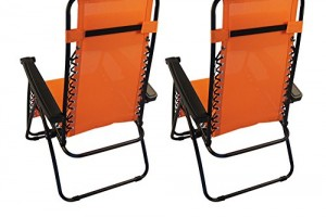 Sundale Outdoor Zero Gravity Chair 2 Pack - Orange