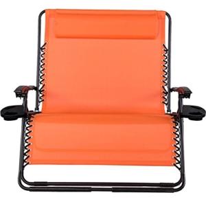 Sundale Outdoor 2 Person Zero Gravity Chair Patio Loveseat - Orange