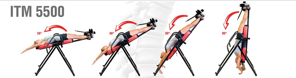 Inversion shown on a health gear inversion table