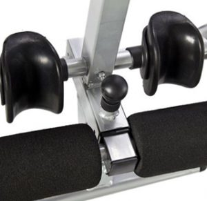 Standard Ankle Locking System on inversion table