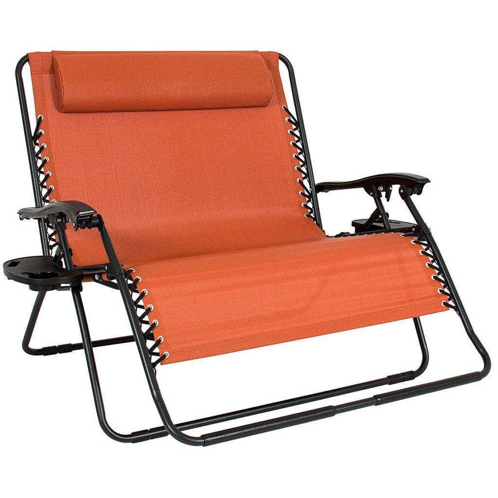 Best Choice double zero gravity chair loveseat orange