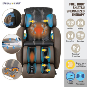LM 6800 Kahuna Zero Gravity Massage Chair Features