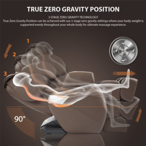 RELAXONCHAIR Zero Gravity Shiatsu Massage Chair positioning