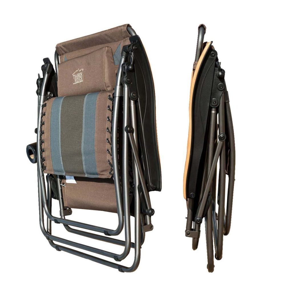 Timber Ridge Oversized XL Padded Zero Gravity Chair Earth