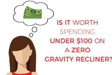 under $100 zero gravity chair illustration