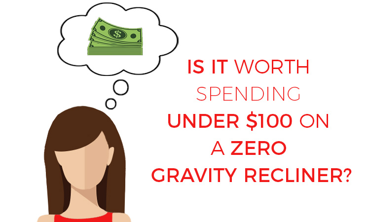 under $100 zero gravity chair illustration