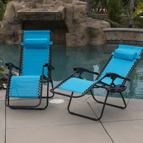 Belleze 2-Pack Zero Gravity Chairs Blue